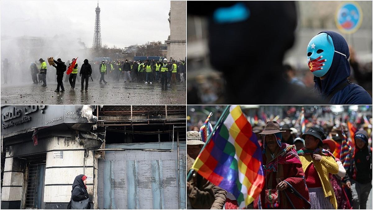 2019'da 4 farklı kıta ve 17 ülkede 'sokak protestoları' yapıldı!