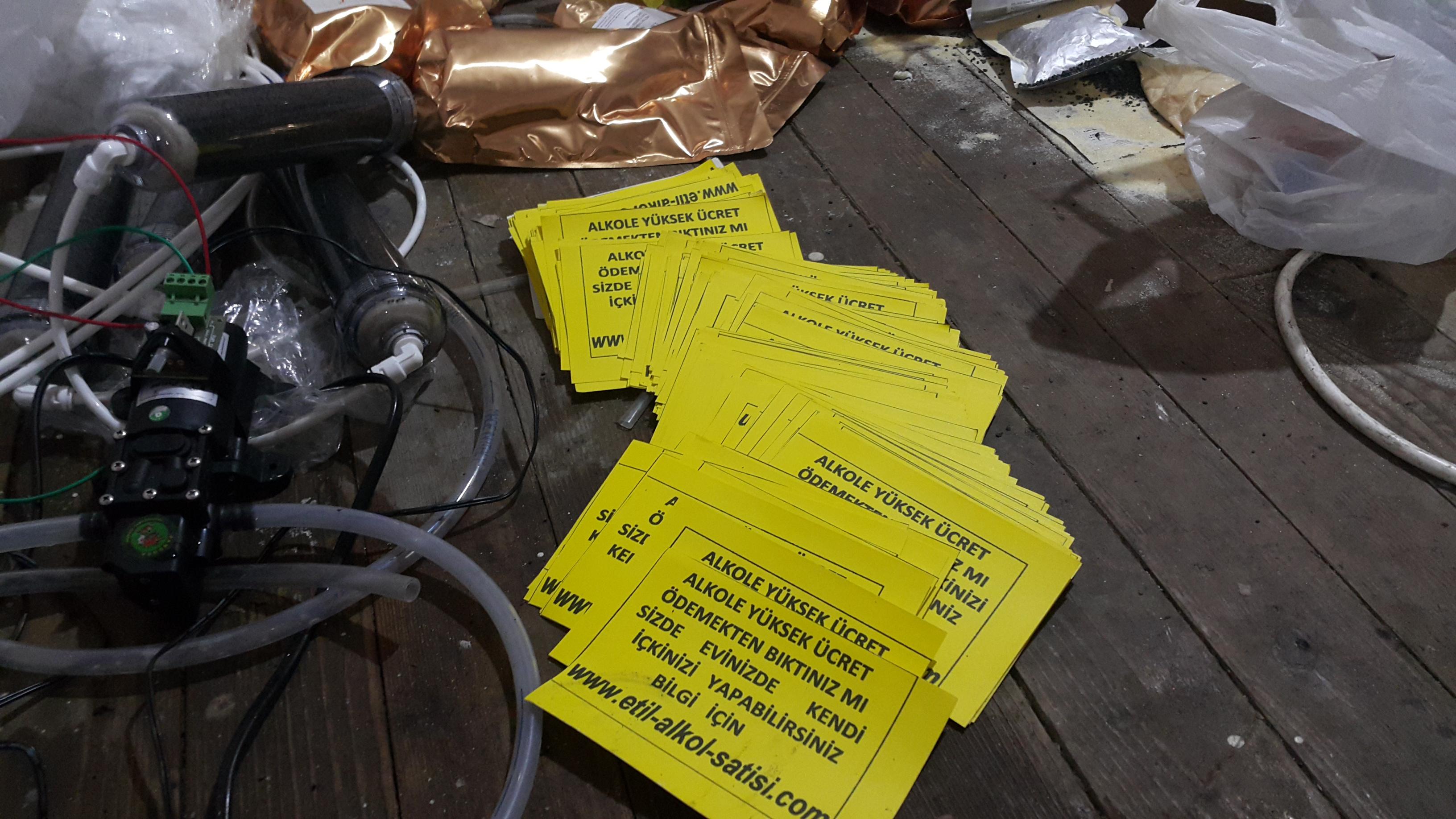 Sahte alkolü el ilanlarıyla satan 3 kişi gözaltına alındı