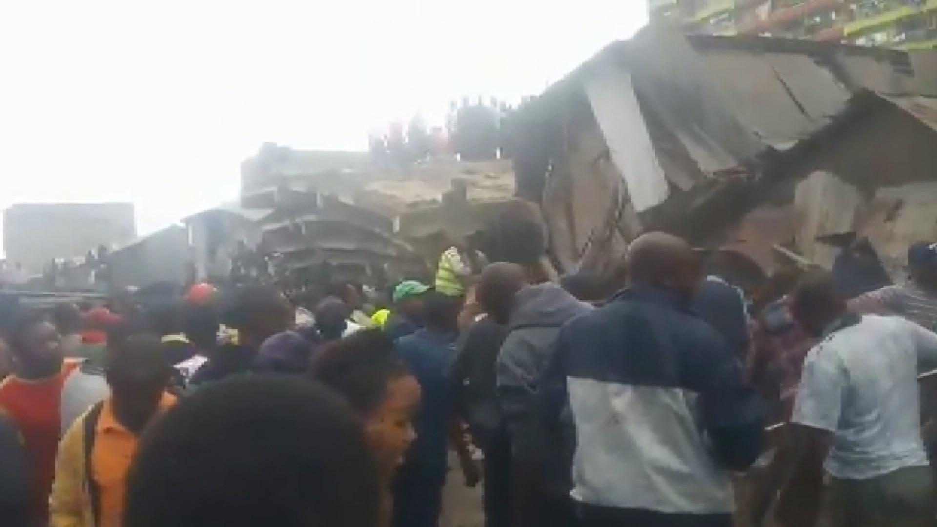 Kenya'da 6 katlı bina çöktü! Mahsur kalan kişi sayısı bilinmiyor