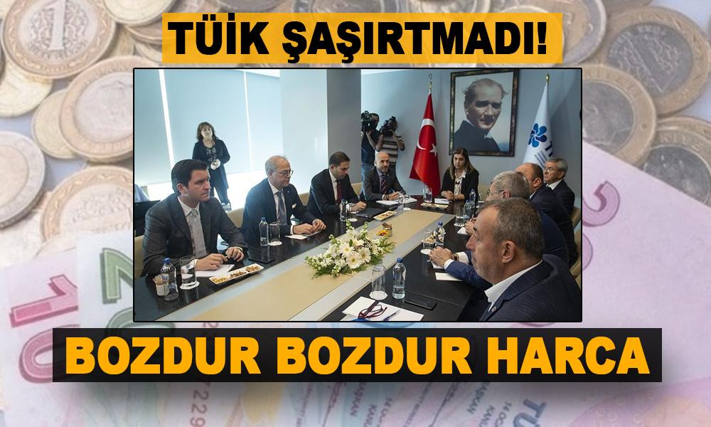 Düşük enflasyon fatihi TÜİK'den asgari ücret zammı için sefalet teklifi!
