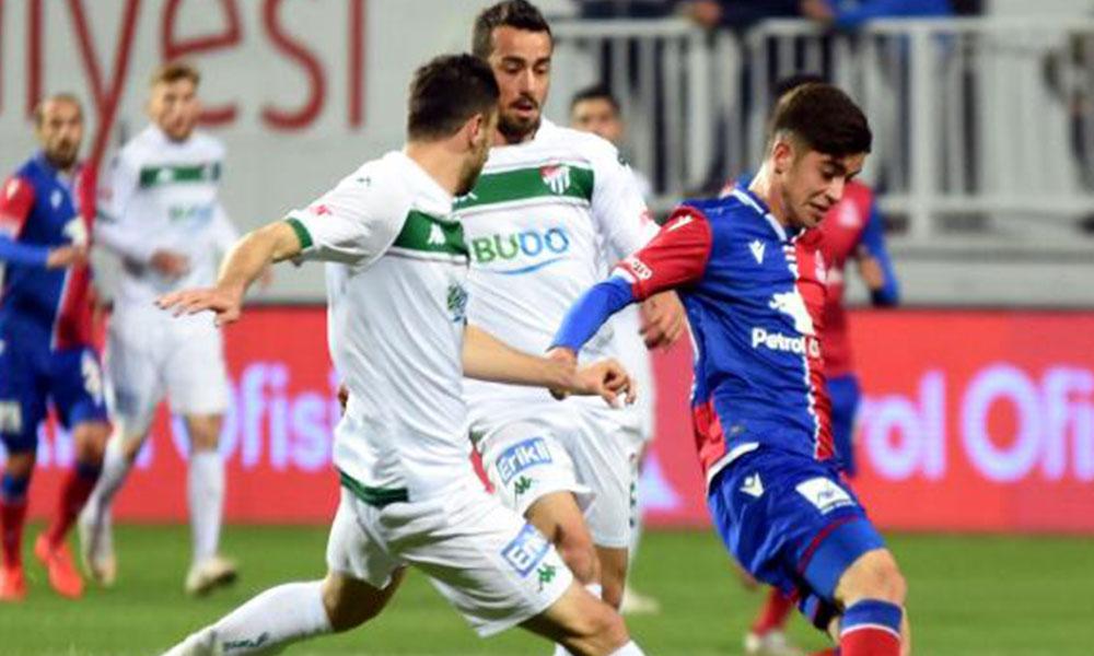 Bursaspor deplasmanda kazanamadı…