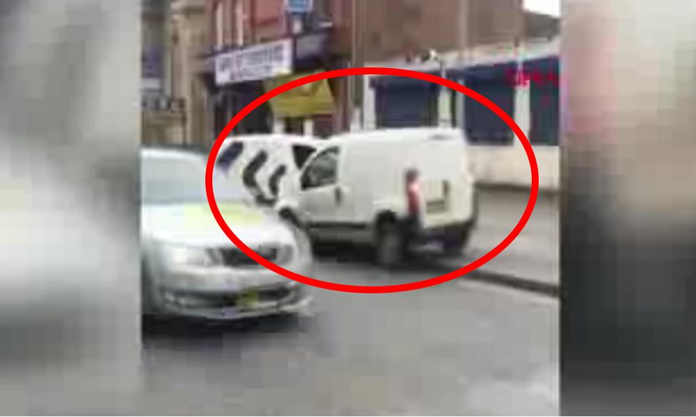 Trafikte tartıştığı sürücünün aracına defalarca çarptı
