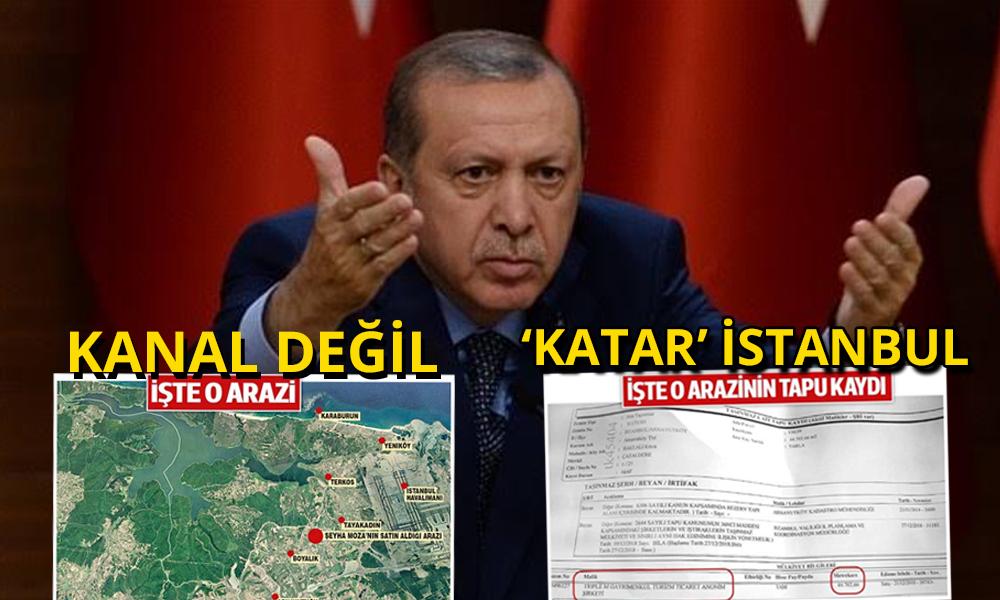 Erdoğan'ın 'Kanal İstanbul' ısrarının nedeni belli oldu!