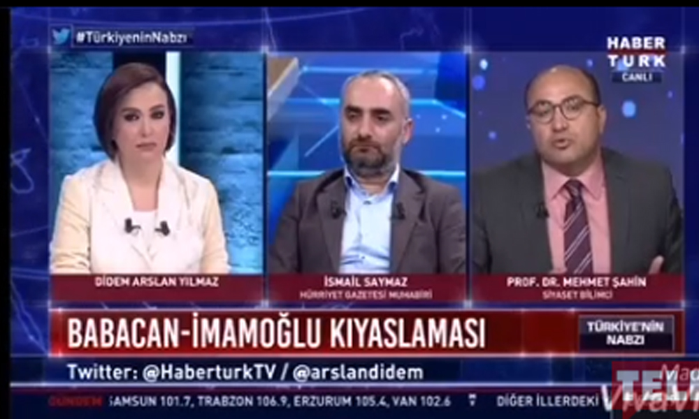 İsmail Saymaz'dan, yandaş Mehmet Şahin'e canlı yayında 'Erdoğan' hatırlatması!