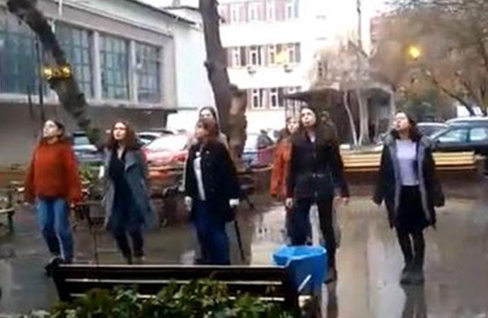 Ankara Üniversitesi'nde Las Tesis eylemi yapan öğrencilere gözaltı!