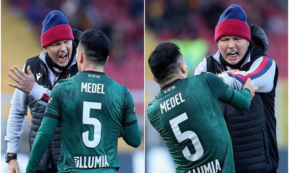 Eski Beşiktaşlı Gary Medel teknik direktörüyle sahada kavga etti
