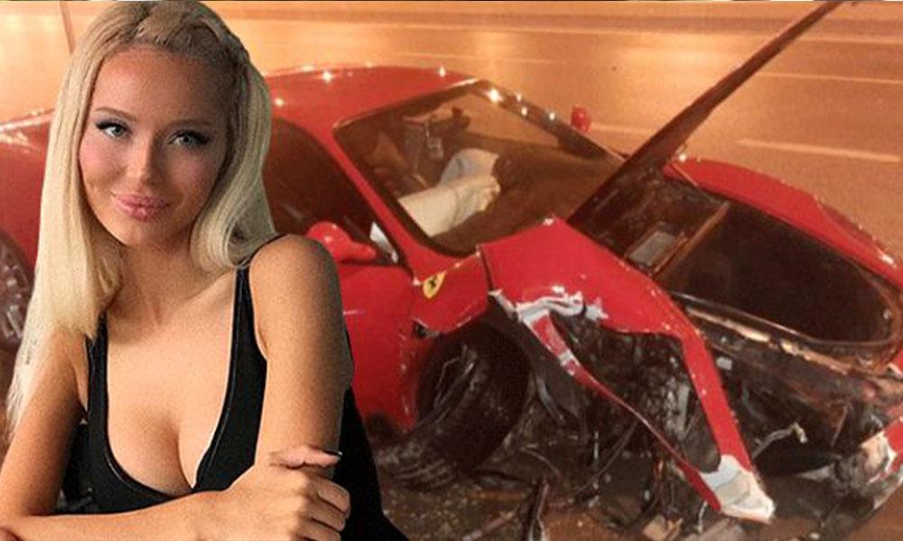 Model Cansu Taşkın trafik kazası geçirdi