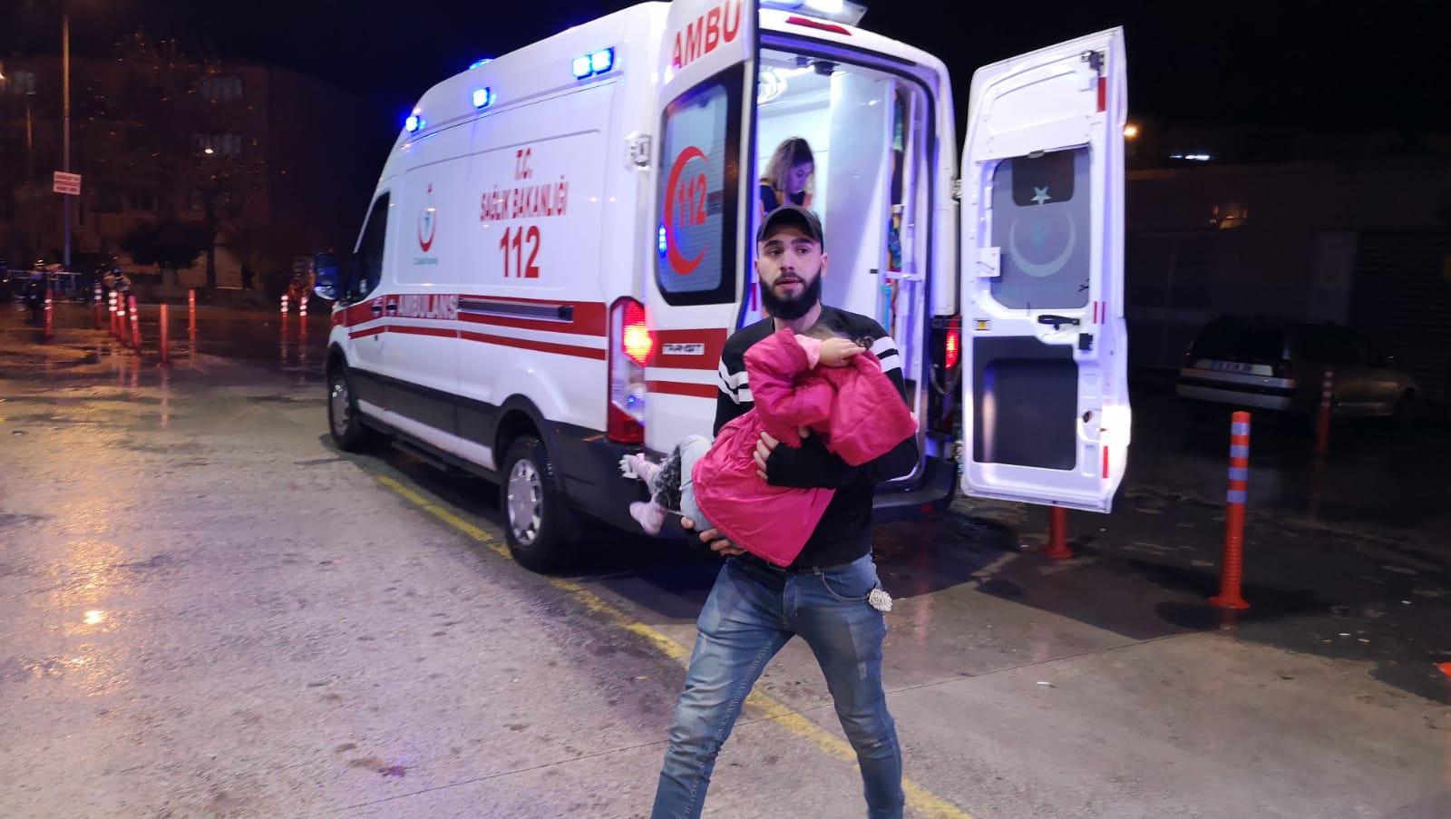 Soba gazından etkilenen 4 kişilik aile hastaneye kaldırıldı
