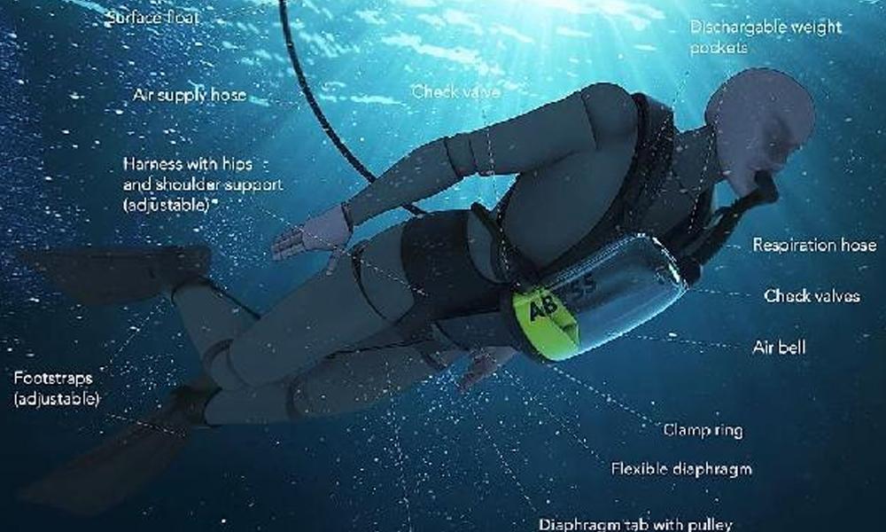 Dalgıçlara sonsuz oksijen kaynağı sunan sistem