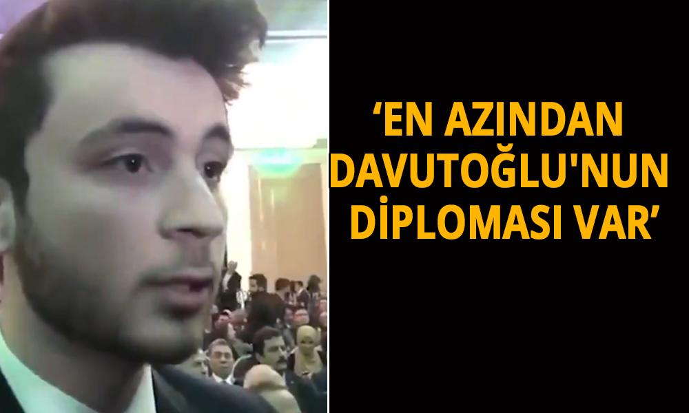 Gelecek Partisi'nin en genç üyesinden Erdoğan'a 'Diploma' göndermesi
