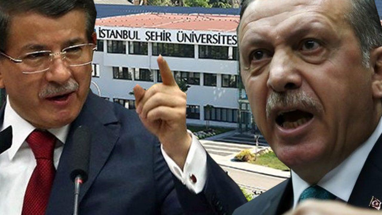 Erdoğan ile Davutoğlu arasında tartışma yaratan İstanbul Şehir Üniversitesi'nden  açıklama - Tele1