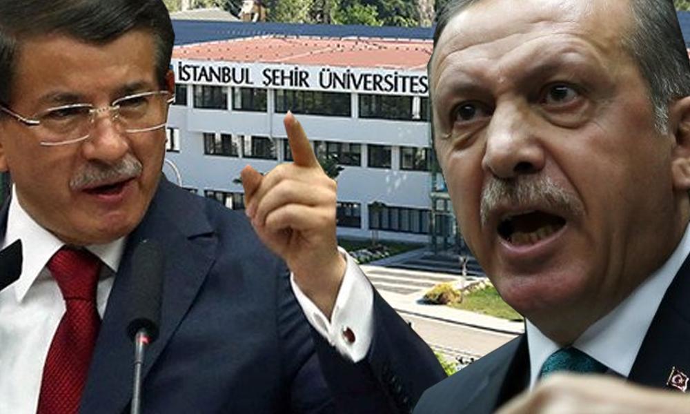 Erdoğan ile Davutoğlu arasında tartışma yaratan İstanbul Şehir Üniversitesi'nden açıklama