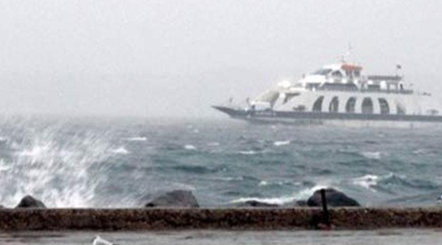 Hava şartları sebebiyle bazı feribot seferleri iptal edildi!