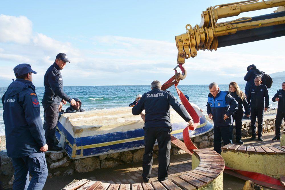 Mudanya'da kayıtsız ve sahipsiz teknelere geçit yok