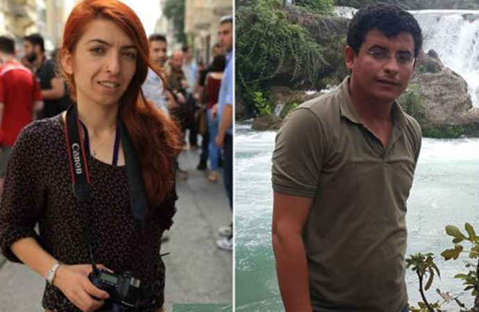 Gözaltına alınan gazeteciler Sadiye Eser ve Sadık Topaloğlu tutuklandı
