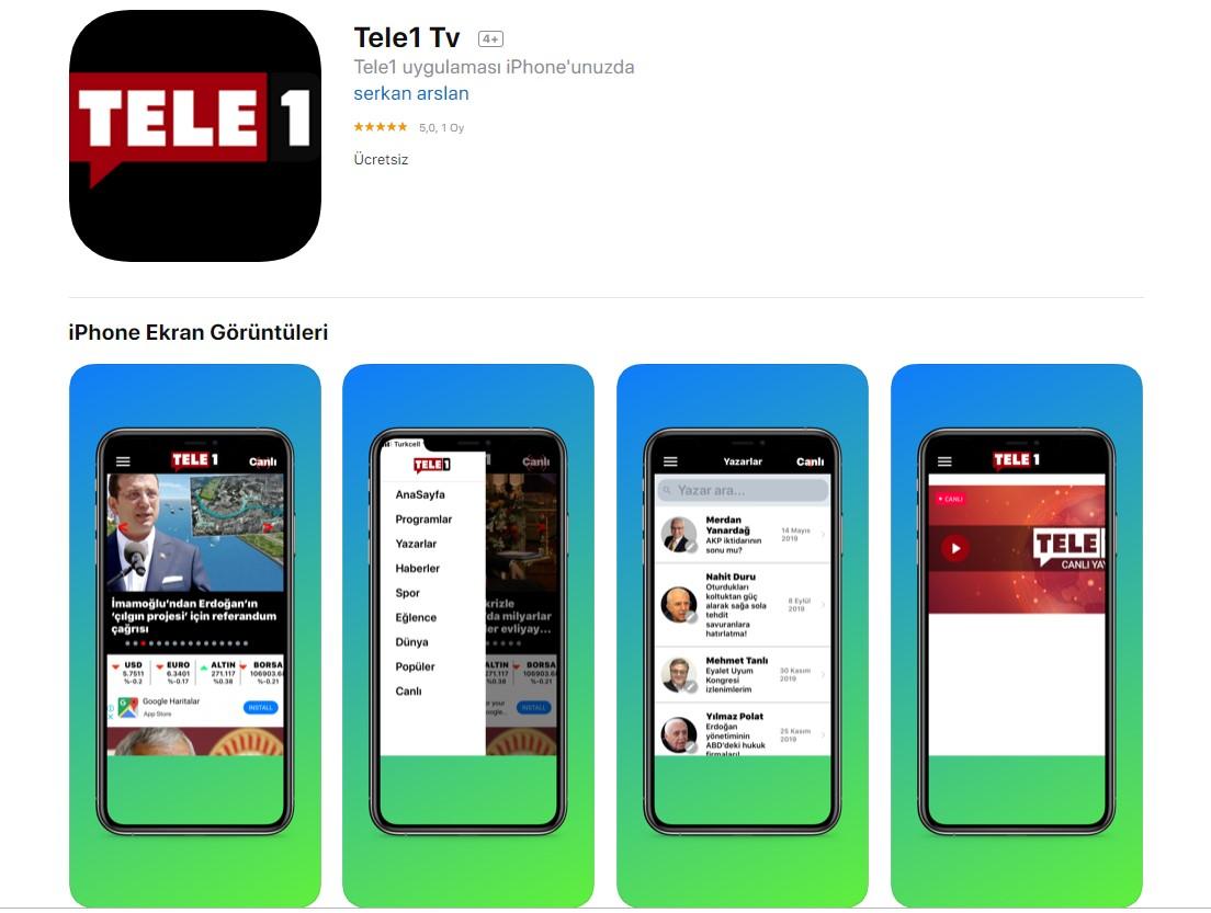 TELE1 TV artık telefonunuzda