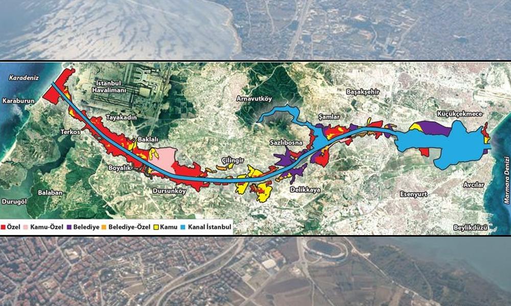 Parsel parsel rant! İşte Kanal İstanbul'un mülkiyet haritası