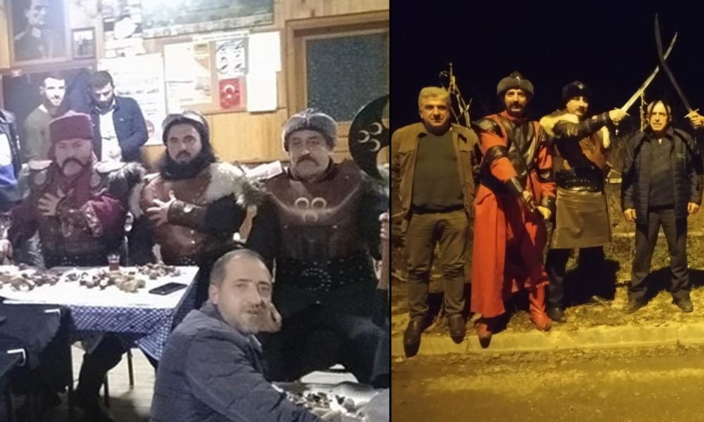 Kuruluş Osman dizisini kılıç kuşanarak izlediler!