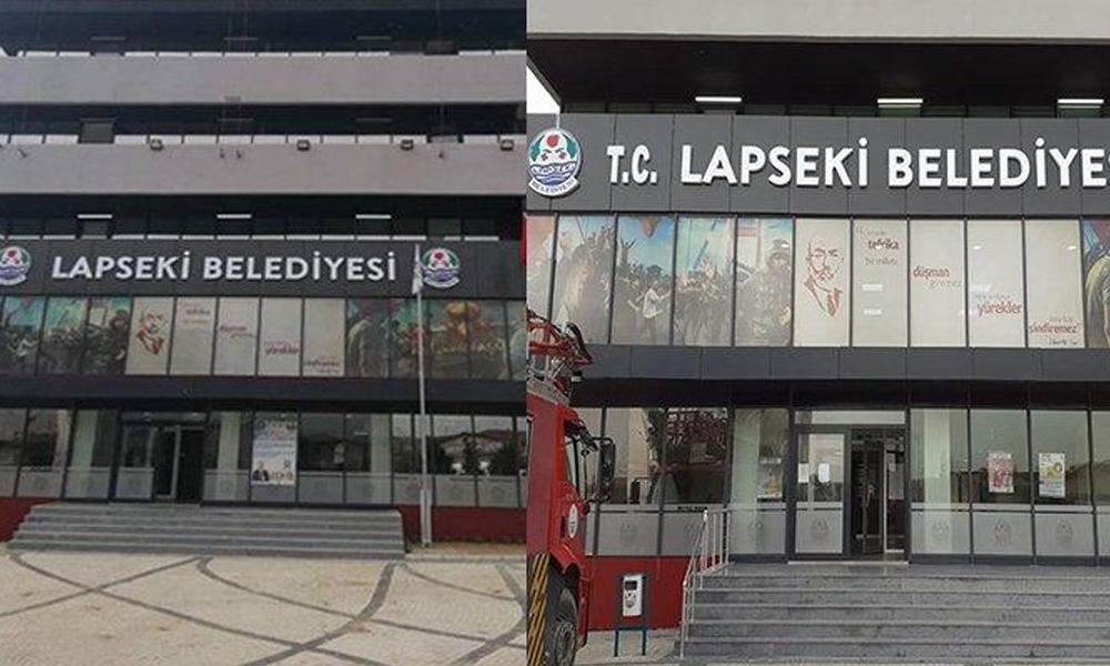 AKP'li belediye tepkiler sonrası tabelasına T.C.'yi ekledi