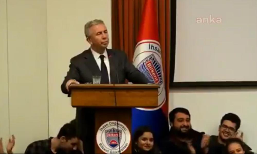Üniversite öğrencisinin Mansur Yavaş hakkında söyledikleri salonda büyük yankı uyandırdı
