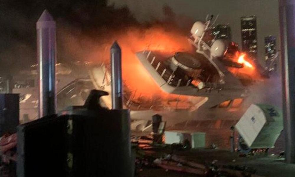 Marc Anthony'ye ait 7 milyon dolarlık yat yanarak battı