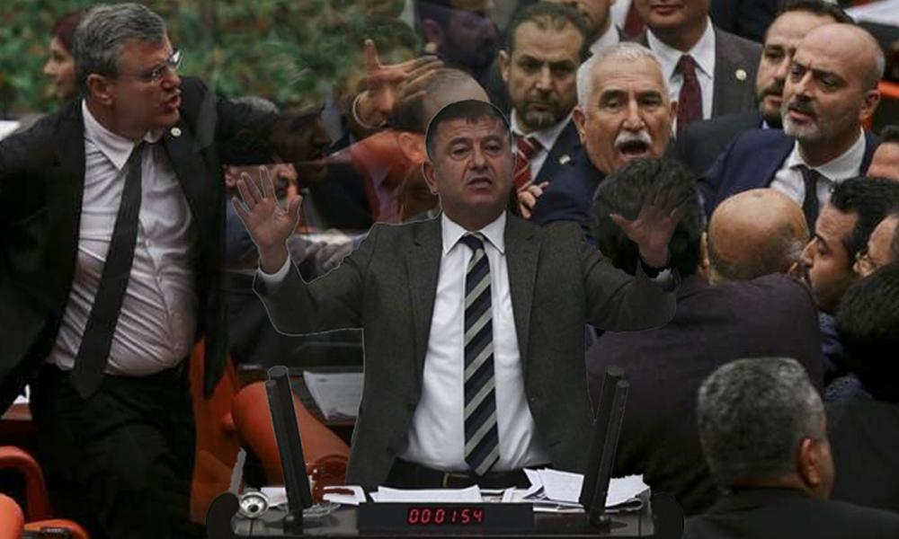 Meclis'te 'mıncıklama' gerilimi: AKP'li ve CHP'li vekiller birbirinin üzerine yürüdü