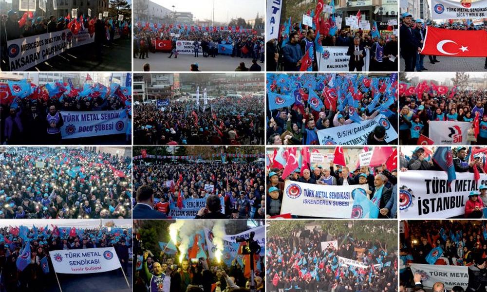 Türk Metal Sendikası'ndan MESS'e toplu sözleşme protestosu