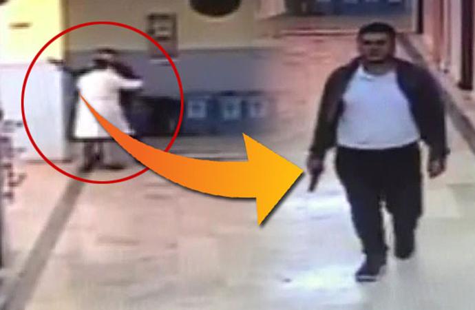 Okul koridorunda dehşet anları! Arkadaşıyla kavga etti, kurusıkı tabancayla okulu bastı