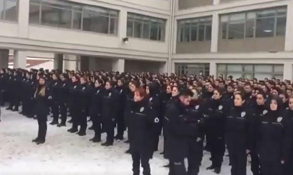 Polis okulundaki yasadışı yemin törenine Emniyet'ten açıklama