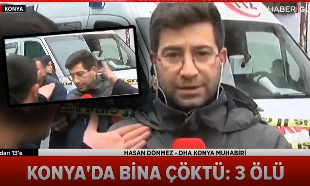Canlı yayında haber sunan muhabire tekme tokat saldırı…