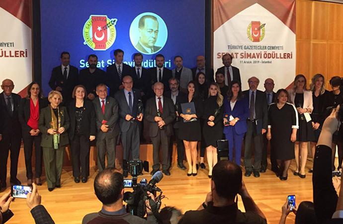 TELE1 Temsilcisi Tuncay Mollaveisoğlu'na Sedat Simavi Ödülü