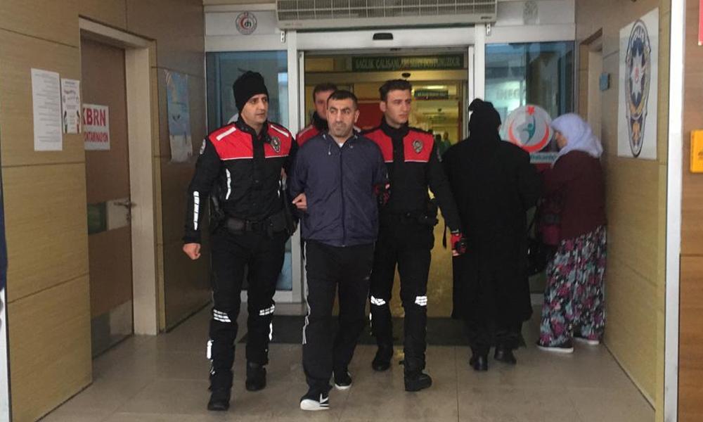 11 yıl hapis cezası olan şüpheli, halk otobüsünde yakalandı