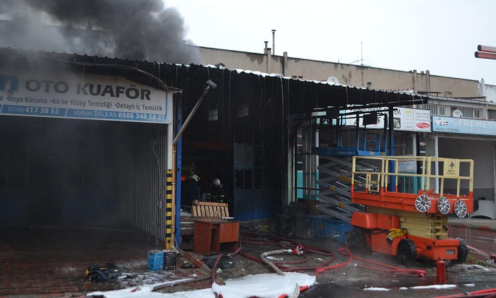 Lüleburgaz'da sanayi sitesinde yangın…