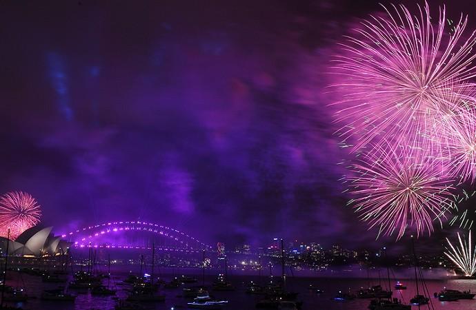 Dünya yeni yılı böyle karşıladı
