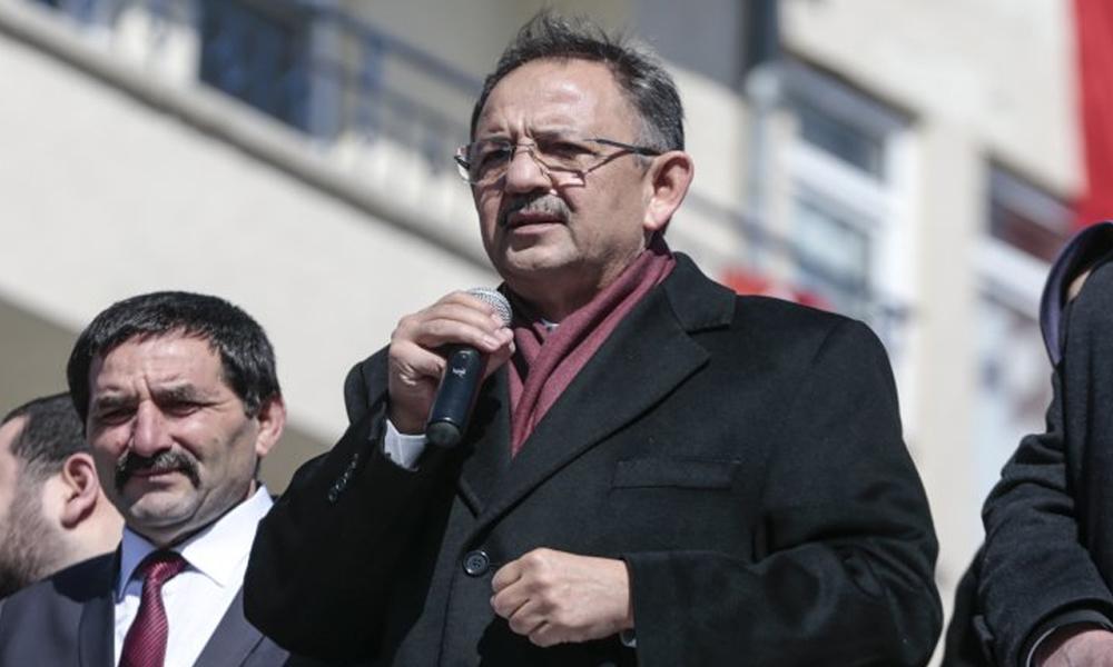 Mehmet Özhaseki: Eve su faturası getiren tahsildarların militan olduğunu, başımıza gelecek felaketleri bir düşünün