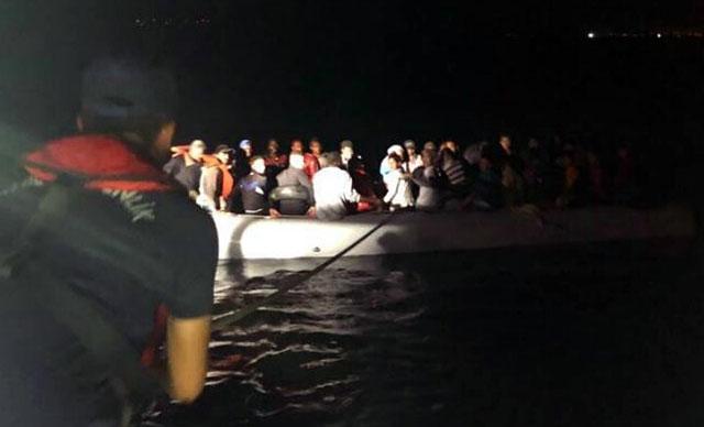 Didim'de çok sayıda kaçak göçmen yakalandı