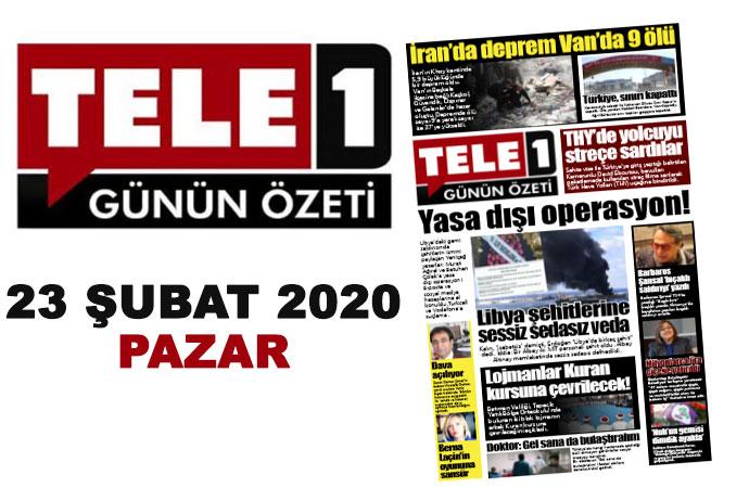 Libya şehitlerini yazan gazetecilere yasa dışı operasyon! Türkiye, İran sınırını kapattı. İran'da deprem Van'da 9 ölü. Lojmanlar Kuran kursuna çevrilecek! THY'de yolcuyu streç filmle sardılar… 23 Şubat günün özeti