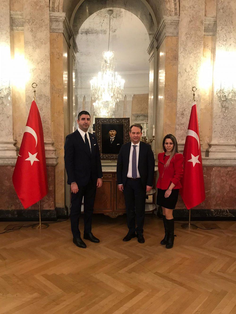 Başkan Gökhan Yüksel, Viyana'da bir dizi temaslarda bulundu