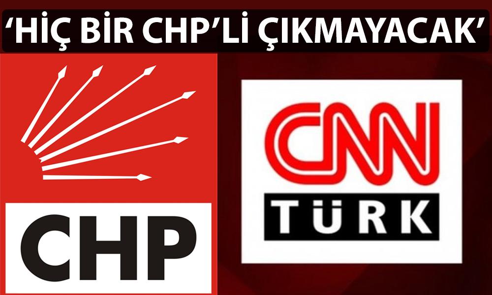 CHP'den CNN Türk'ü boykot kararı! Genel Müdür acil görüşme talep etti…