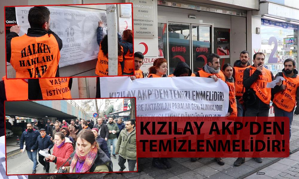'Kızılay'ın peşini bırakmıyoruz' diyen Halkevciler'den eş zamanlı eylem!