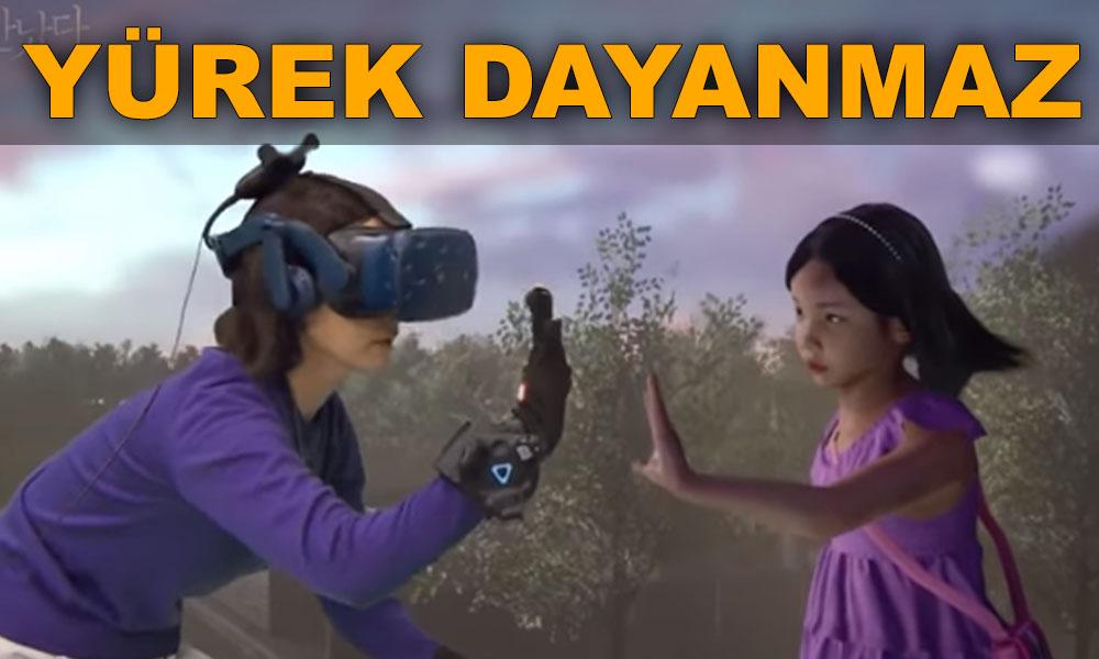 VR teknolojisiyle Anne ile ölen kızını konuşturdular