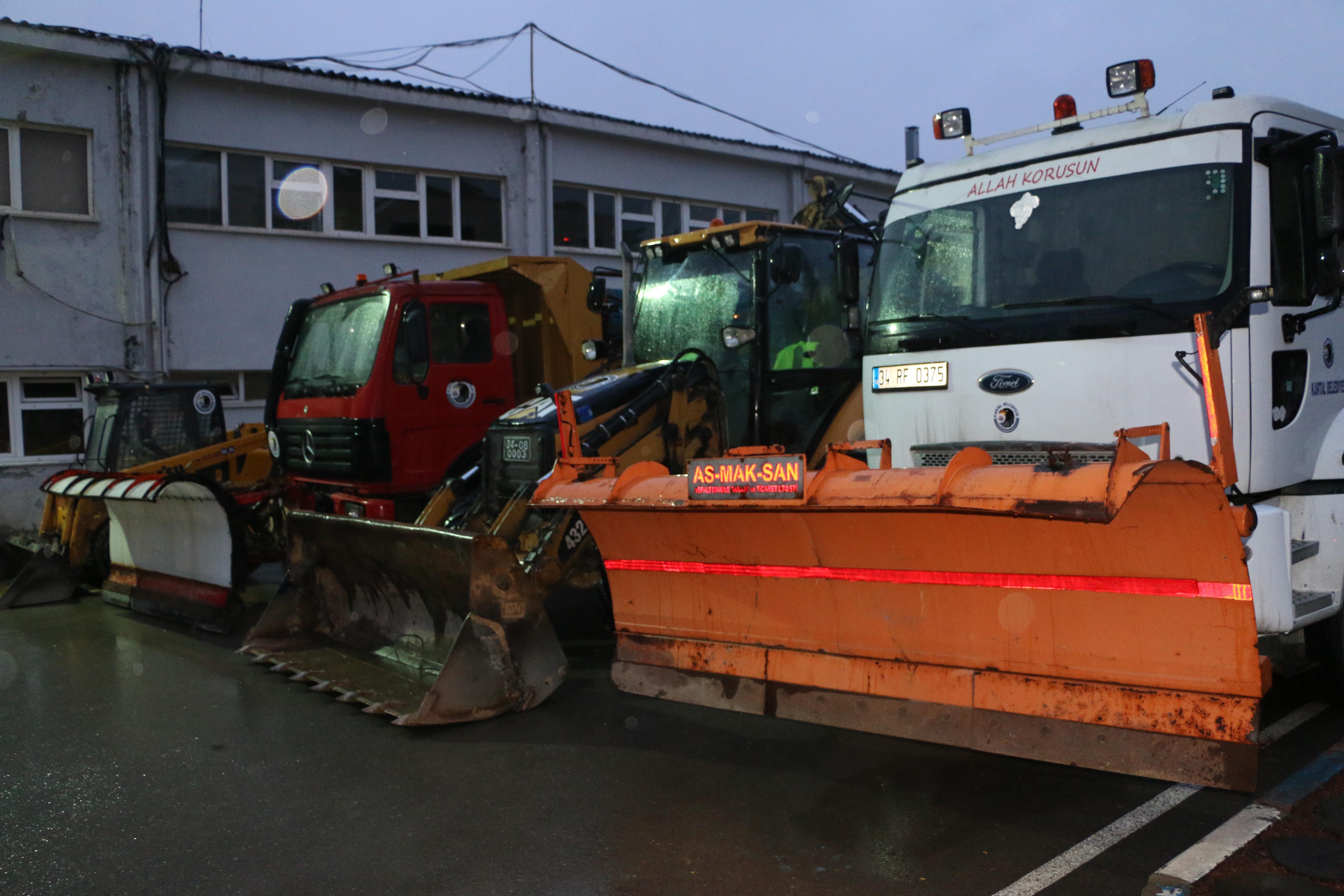 Kartal Belediyesi kar yağışına hazır