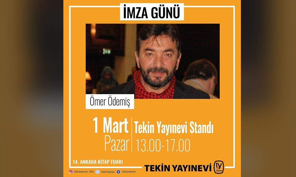 TELE1 yazarı Ömer Ödemiş Ankara Kitap Fuarında okurlarıyla buluşuyor