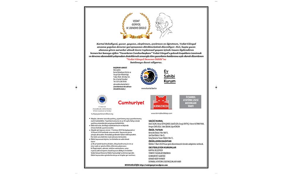 Vedat Günyol 4. Deneme Yarışması'nda ödül kazanan eser, 25 Şubat'ta açıklanacak
