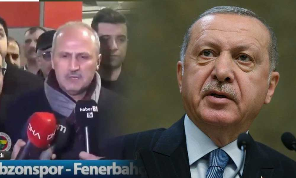 """Erdoğan'dan 'Trabzonspor şampiyon olacak"""" diyen bakana tepki"""