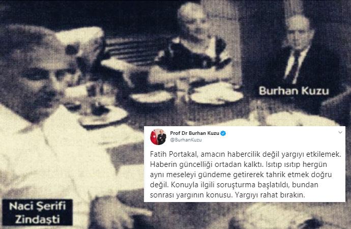 'Yargıyı rahat bırakın' diyene bak! Burhan Kuzu, Fatih Portakal'ı 'Yargıyı etkilemek' ile suçladı
