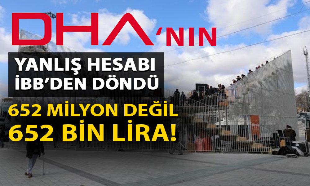 İBB'den DHA'nın yanlış hesabına kınama! 'Uyarılarımıza rağmen…'
