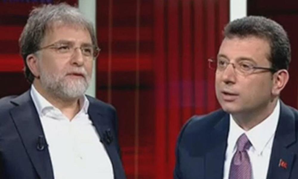 Ahmet Hakan'dan programına katılmayan Ekrem İmamoğlu'na rozetli cevap