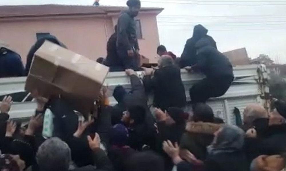 Elazığ'da yardım dağıtım rezaleti!