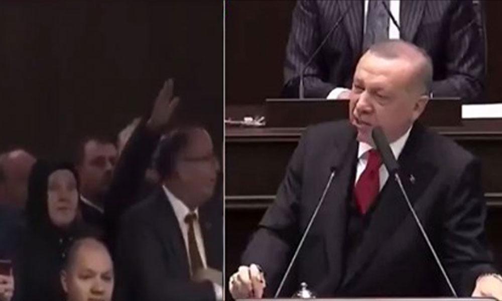 Erdoğan konuşurken 'Çoluğum çocuğum aç' diyen vatandaş susturuldu, canlı yayın kesildi